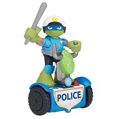 Teenage Mutant Ninja Turtles PreCool Half Shell Heroes Rescue Leonardo with Police Scooter Figure *** Visit the image link more details. (Note:Amazon affiliate link) #ToysGames2To4Years