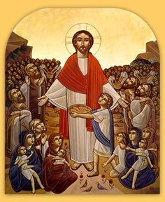 IcCFeed - Orthodox Feeding the Multitudes Icon