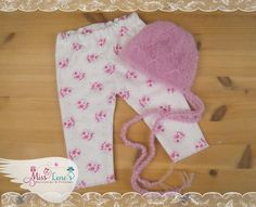 Newborn Baby Girl Pants and Knit Baby by PhotoPropsByMissLene