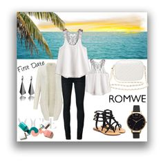"""White tank top-ROWME"" by tattooedmum on Polyvore featuring Miss Selfridge, Off-White, Olivia Burton, Mystique and Charlotte Russe"