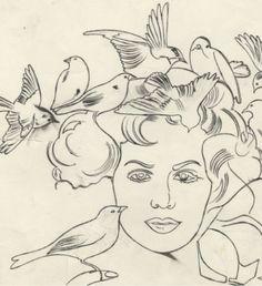 andy warhols drawing