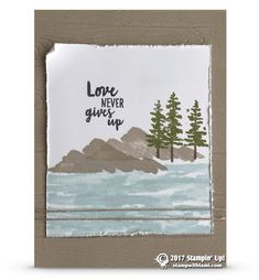 CARD: Love Never Gives Up from the Waterfront | Stampin Up Demonstrator - Tami White - Stamp With Tami Crafting and Card-Making Stampin Up blog