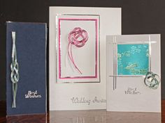 Ann's Daily Crafts: Knotted cards (mizuhiki cord)..clean, simple  beautiful...