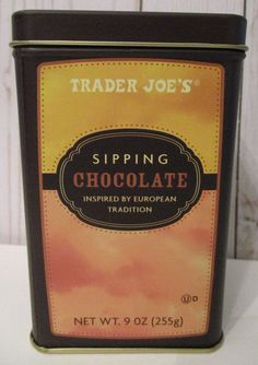 1 CAN of Trader Joes Sipping Chocolate Inspired By European Tradition Chocolate #TraderJoes