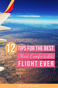 These 12 tips will help you have the best and most comfortable flight ever! These first flight tips are perfect for anyone anxious or worried about flying for the first time. Your first flight can be scary, but with these first flight tips, it doesn't hav Ways To Travel, Travel Advice, Travel Tips, Travel Hacks, Travelling Tips, Travel Info, Usa Travel, Travel Guides, Travel Destinations