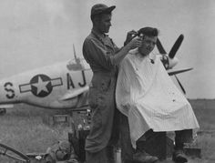 P-51C Mustang of the 354th FG, 100th FW and a haircut.