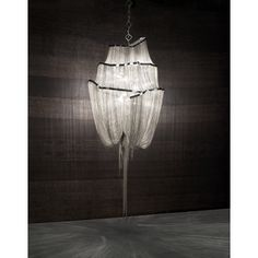 Terzani Lighting Atlantis Chandelier is hand crafted Italian design. Atlantis shimmering light creates a vibrant source of energy. Chandelier Fan, Wooden Chandelier, Large Chandeliers, Chandelier In Living Room, Pendant Lamp, Pendant Lighting, Crystal Pendant, Modern Lighting, Lighting Design