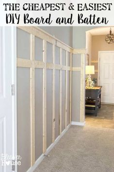 Home Improvement Projects, Home Projects, Home Improvements, Cheap Home Decor, Diy Home Decor, Home Interior, Interior Design, Interior Ideas, Board And Batten