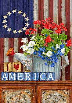 I love America - Betsy Ross Patriotic American Flag