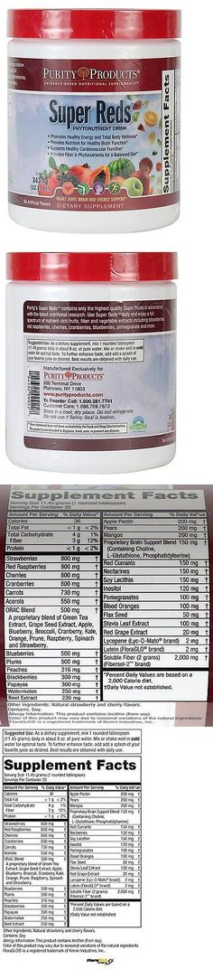 Dietary Supplements: Super Reds By Purity Products . BUY IT NOW ONLY: $36.74