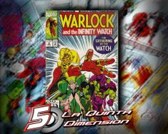 WARLOCK & THE INFINITY WATCH # 2  DE JIM STARLIN, CON DIBUJO DE RON LIM. APARECEN GAMORA Y DRAX THE DESTROYER DE LOS AHORA GUARDIANS OF THE GALAXY $ 50.00 Para más información, contáctanos en http://www.facebook.com/la5aDimension