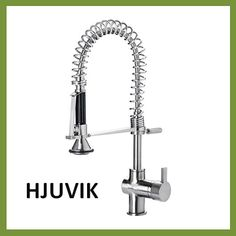 aleskÄr kitchen faucet, with side spray, chrome-plated/black