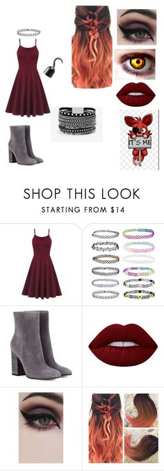 """""""FNAF:Formal Foxy (Female Version)"""" by lilliandunithan ❤ liked on Polyvore featuring Gianvito Rossi, Lime Crime, Concrete Minerals and White House Black Market"""