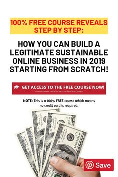Learn how to buila a profitable online business starting today Work From Home Careers, Work From Home Companies, Work From Home Opportunities, Make Money Today, Make Easy Money, Make Money Online, Quick Money, Money Fast, Free Courses