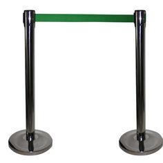Trekbandpalen met groen trekband