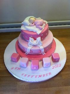 Christening cake Baby Shower Cakes, Cake Decorating, Bakery, Projects To Try, Christening Cakes, Birthday Cake, Shower Ideas, Desserts, Recipes