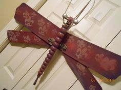 Repurposed Ceiling Fan Blades and Table Leg by WingingThis on Etsy, $45.00