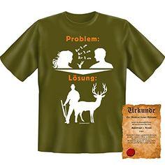 Lustiges Geschenk für Jäger / Jagd Motiv : Problem T-Shirt + Gratis Spassvogel Urkunde ! Gr: S Farbe: khaki Unbekannt http://www.amazon.de/dp/B00HWUIRXI/ref=cm_sw_r_pi_dp_r3ERvb0464AV5