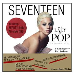 """""""Seventeen cover not.2016"""" by tori-holbrook-th ❤ liked on Polyvore featuring Vanity Fair and nanimarquina"""