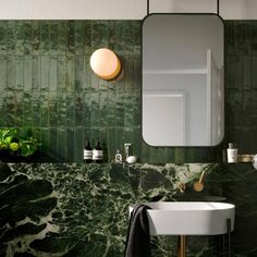 Buy Dwell Emerald tiles from Porcelain Superstore. Visit our website for great deals on porcelain tiles all with 5 year guarantee. Italian Bathroom, Modern Bathroom, Bathroom Interior Design, Home Interior, Interior Paint, Dark Green Bathrooms, Green Bathroom Tiles, Green Tiles, Bathroom Marble