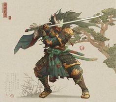The Art Showcase – katana Fantasy Character Design, Character Design Inspiration, Character Concept, Character Art, Concept Art, Arte Ninja, Ninja Art, Fantasy Warrior, Fantasy Art