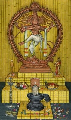 Shiva - the Nataraja - in the Kadavul Sanctum - Kauai's Hindu Monastery - Virtual Tours Ganesha Painting, Lord Shiva Painting, Tanjore Painting, Shiva Linga, Shiva Shakti, Shiva Art, Hindu Art, Om Namah Shivaya, Indiana