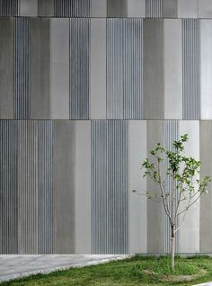 Gallery of Aimer Fashion Factory / Crossboundaries - 12 Aimer Fashion Factory / Crossboundaries Architects Precast Concrete Panels, Concrete Facade, Concrete Architecture, Concrete Texture, Industrial Architecture, Architecture Details, Wood Texture, Metal Cladding, Wall Cladding