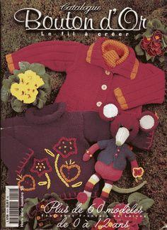 Bouton dor № 10 - ok Knitting Books, Crochet Books, Knitting For Kids, Easy Knitting, Crochet For Kids, Baby Knitting Patterns, Baby Girl Patterns, Sewing Patterns, Knitting Magazine