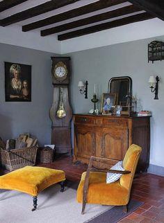 Rodzinny skarbiec - dom w Burgundii : Weranda Country