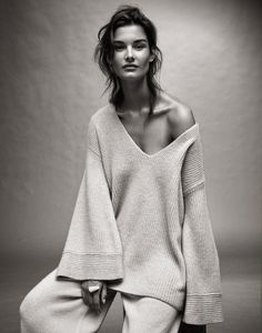 Ophelie Guillermand | Sweater and pants The Row, necklace Maison Martin Margiela (worn as bracelet)