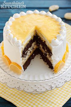 Chocolate Cake with Lemon Cream