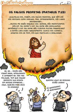 O que Jesus diz sobre os falsos profetas?