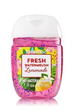 Fresh Watermelon Lemonade PocketBac Sanitizing Hand Gel - A refreshing spritzer of watermelon & freshly squeezed Meyer lemons Bath Body Works, Bath N Body, Bath And Body Works Perfume, Alcohol En Gel, Lotion, Watermelon Lemonade, Vitamin E, Bath And Bodyworks, Body Spray