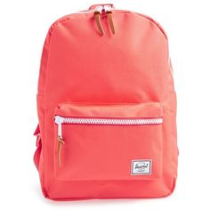 Herschel Supply Co. 'Settlement' Backpack ($50) ❤ liked on Polyvore featuring bags, backpacks, red cayenne, handle bag, backpacks bags, knapsack bags, herschel supply co. and red backpack
