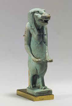 Taweret was a fierce goddess who protected the mother and child during childbirth. Unlike most goddesses, she had no human elements, consisting instead of the head and body of a hippopotamus, the tail of a crocodile and the legs of a lioness. All these creatures were renowned for aggressively protecting their young.