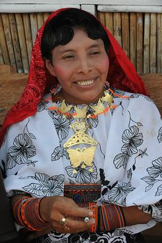 The Guna (aka:Kuna or Cuna) Indians of Panama, Colombia areas. Guna is presently the preffered, legal and recognizable title they go by, after the offical chane.
