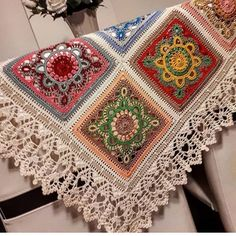 Image may contain: indoor Crochet Square Patterns, Crochet Blocks, Crochet Squares, Crochet Granny, Crochet Blanket Patterns, Crochet Motif, Crochet Designs, Crochet Doilies, Crochet Baby