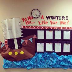 Mrs.Decatur's Little Gators: {Peek in My Classroom} Back to school pirate theme bulletin board