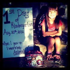 1st Day of Kindergarten :)