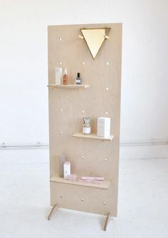 Office Trade Show Free Standing Display Birch Plywood Pegboard / Shelving / Wooden Pegboard, Pegboard Display, Shelving Display, Brighton, Wood Shelving Units, Wood Shelves, Bag Display, Frame Display, Display Ideas