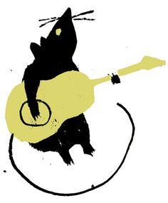 Guitar Rat Art Print