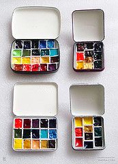 Watercolor Paint Boxes (ZAN570) Tags: watercolor diy paint box altoids artsupplies sketchkit