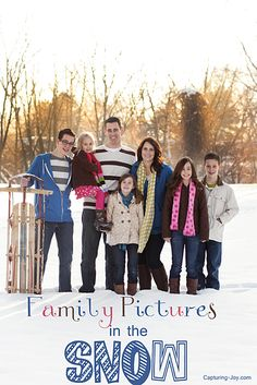 Family pictures in the snow. As a Texas photographer, I don't get to photograph much in the snow, I was so excited to do this on my trip to Utah! Winter Family Pictures, Winter Photos, Winter Pictures, Cute Pictures, Family Pics, Big Family, Snow Photography, Fishing Photography, Family Photography