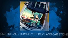 Anime Stickery is your one-stop store for high quality anime stickers for cars and wall stickers, etc. Anime Stickers, Bumper Stickers, Simple Pictures, Anime Characters, Decals, Tags, Decal, Cartoon Characters