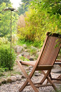 cozy seating area at a garden
