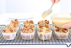 Pumpkin French Toast, French Toast Bake, Cinnamon Roll Muffins, Cinnamon Rolls, Pumpkin Breakfast Cookies, Peach Muffins, Gluten Free Peach, Pecan Desserts, Chocolate Zucchini Muffins