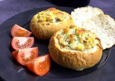Bread Baking, Meat Recipes, Baked Potato, Mashed Potatoes, Sandwiches, Muffin, Food And Drink, Pizza, Cheese