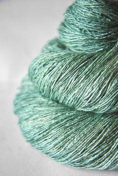 Freezing mountain air - Tussah Silk Yarn Lace weight