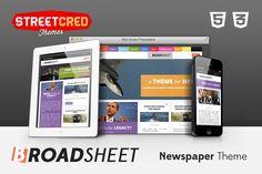 Broadsheet - Newspaper Theme by StreetCred on @creativemarket