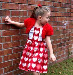 Valentine's Shrug  Red Shrug  Flower Girl by petalsnpixiedust